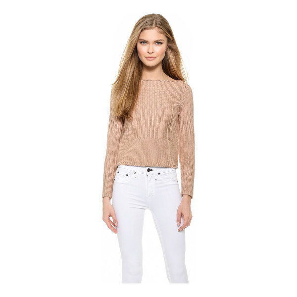 RAG & BONE Delphine pullover - A subtle square pattern styled in smooth stitches accents...