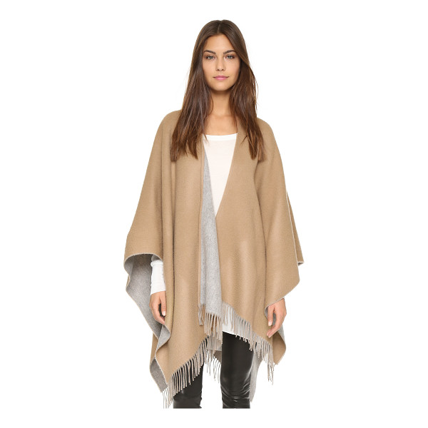 RAG & BONE double sided poncho - Fringe trims the hem of this soft, reversible Rag & Bone...