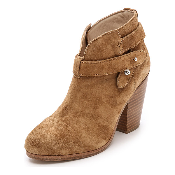 RAG & BONE Harrow booties - Versatile Rag & Bone booties constructed in soft, rubbed