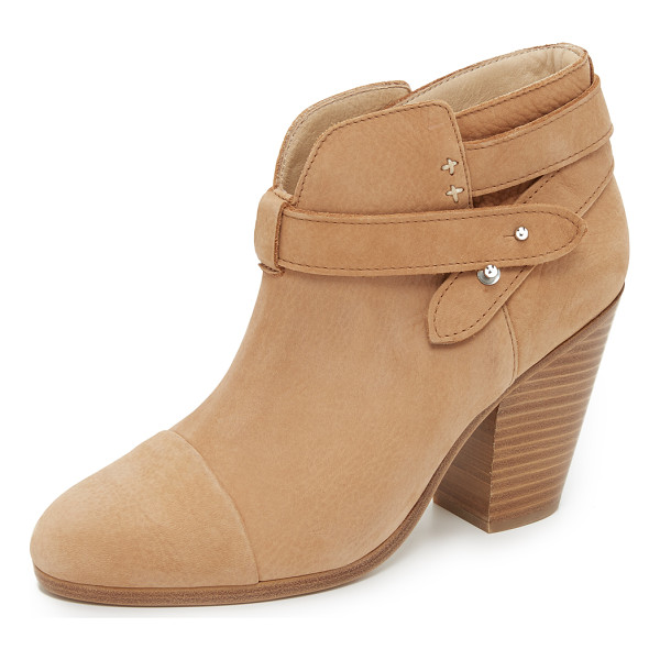 RAG & BONE Harrow booties - Versatile Rag & Bone booties constructed in soft nubuck. A
