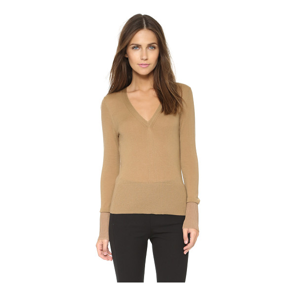 RAG & BONE Jessica v neck sweater - A V neck Rag & Bone sweater in delicate merino wool. Ribbed...