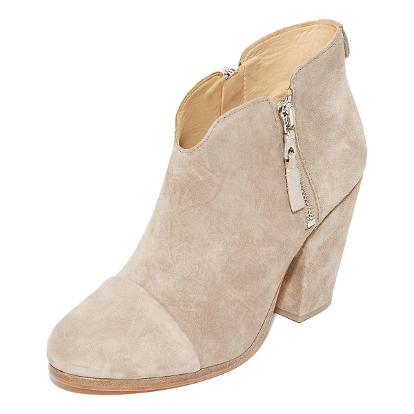RAG & BONE margot booties - Exposed side zips add an edgy element to suede Rag & Bone...
