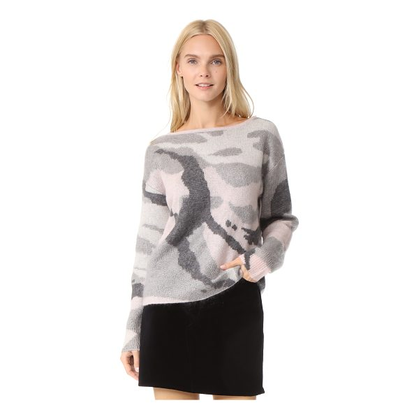 RAG & BONE sinclair sweater - Brushed mohair fibers lend a cozy finish to this camouflage...