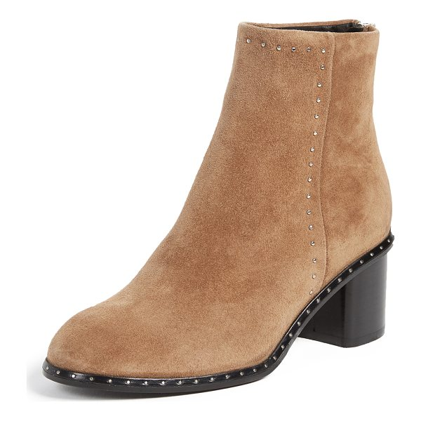 RAG & BONE willow stud booties - Tiny studs add a subtle edge to these suede Rag & Bone...