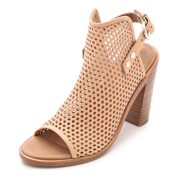 RAG & BONE Wyatt sandals - These perforated, peep toe Rag & Bone sandals have rock n