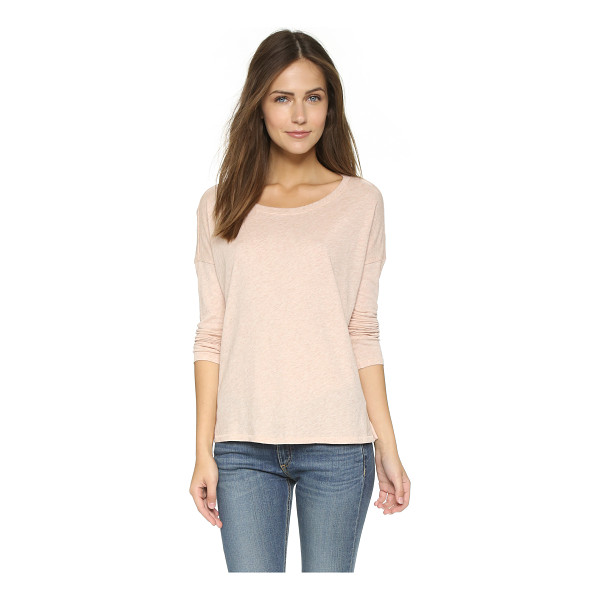 RAG & BONE Long sleeve tee - Dropped shoulder seams accentuate the relaxed fit of this...