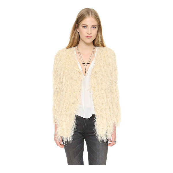 RAGA Almost famous cardigan - Shaggy fringe covers this slouchy Raga cardigan, lending a...