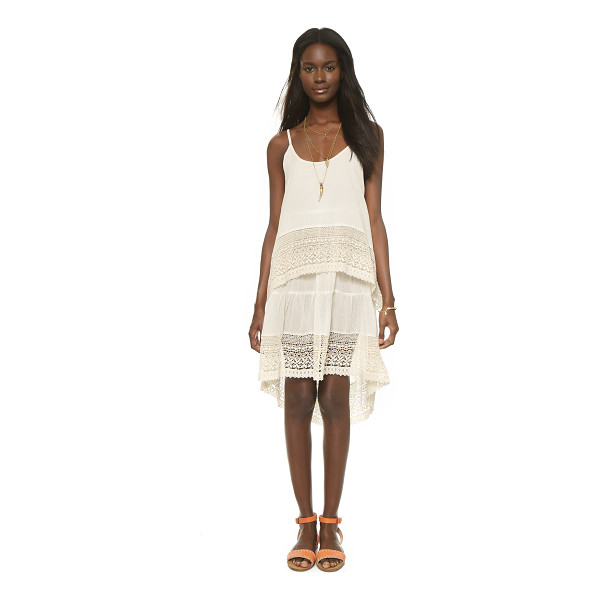 RAGA Sonja dress - Ruched tiers and crocheted trim give this Raga dress a...