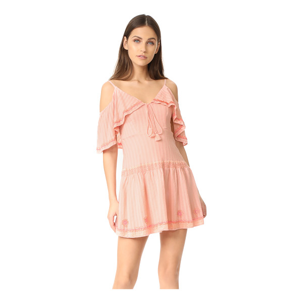 RAHICALI wildflower lolita dress - NOTE: Runs true to size. Soft, shadow-striped gauze...