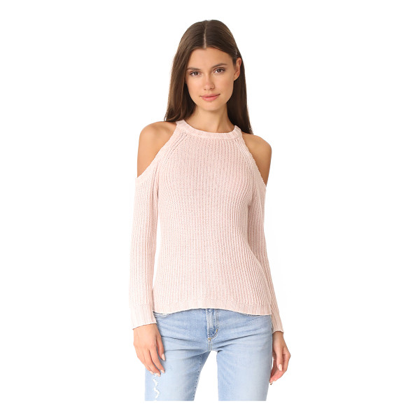 RAILS mika sweater - A soft RAILS sweater with flirty shoulder cutouts. Ribbed...