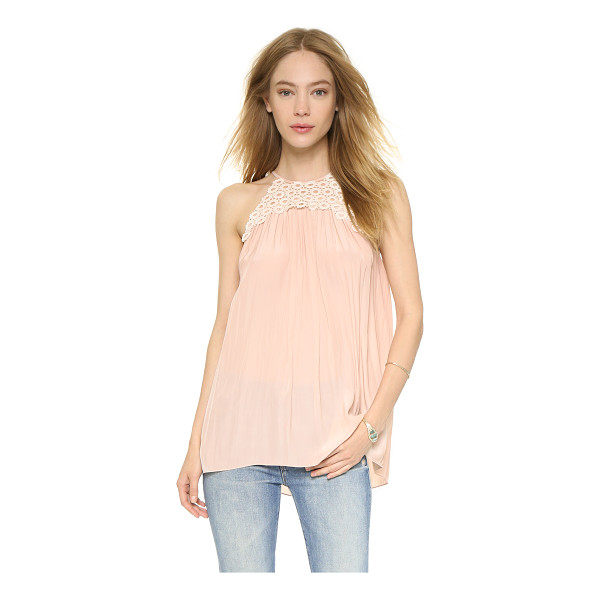 RAMY BROOK Belinda blouse - Glossy, coated lace adds a unique accent to this fluid Ramy...