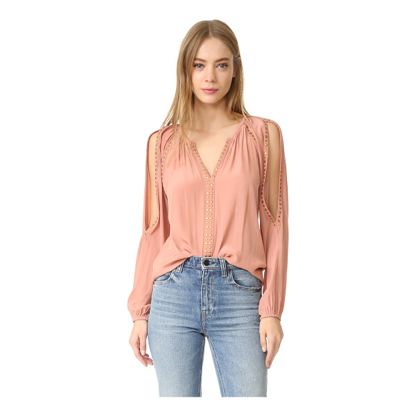 RAMY BROOK danielle blouse - A relaxed Ramy Brook blouse with studded banding at the...