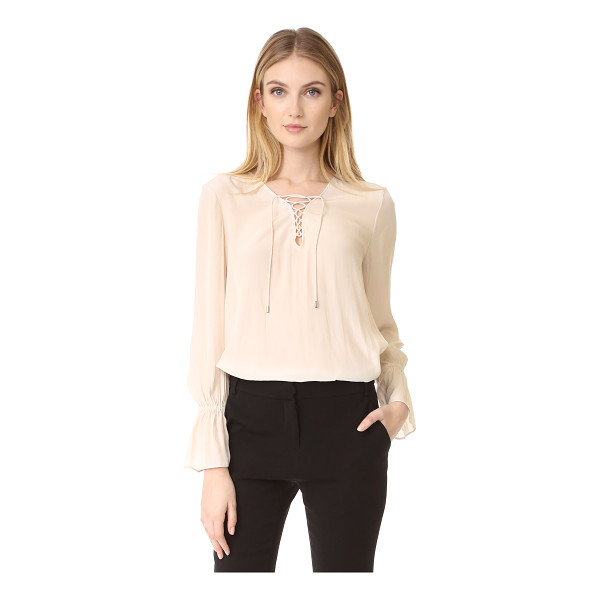 RAMY BROOK erika blouse - A slinky, vintage-inspired Ramy Brook blouse. Lace-up...