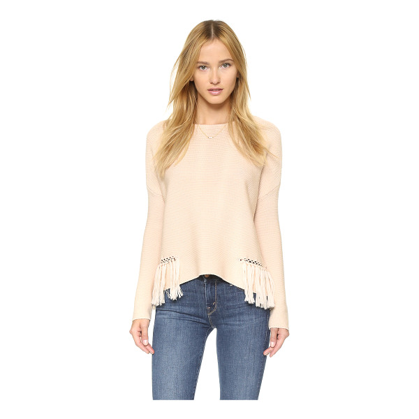 RAMY BROOK Kelly embellished fringe sweater - Chain link detailing and fringe add an edgy feel to this...