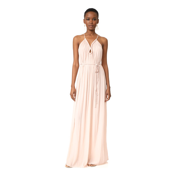 RAMY BROOK valentina maxi dress - Ruching accentuates the fluid drape of this lightweight...
