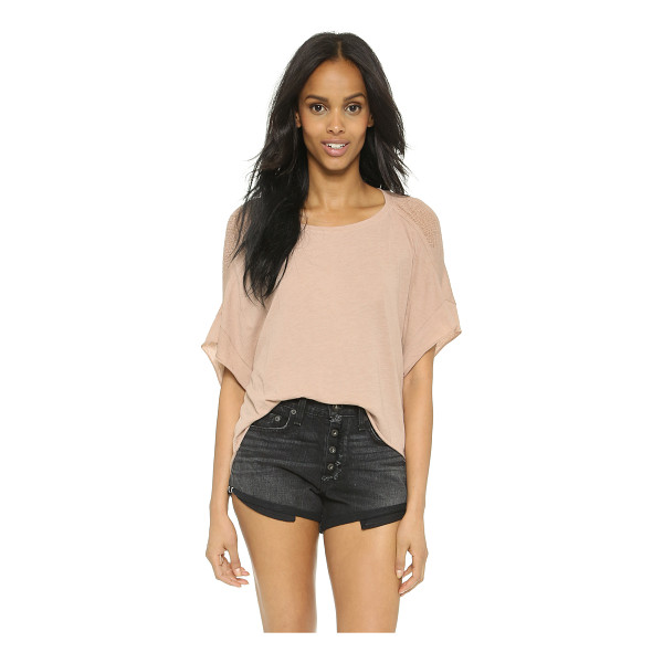 RAQUEL ALLEGRA Sleeveless cocoon tee - A shredded front panel brings gauzy texture to this airy...