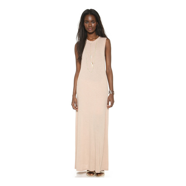 RAQUEL ALLEGRA Sleeveless maxi dress - A relaxed fit and muscle tee bodice lend casual appeal to...