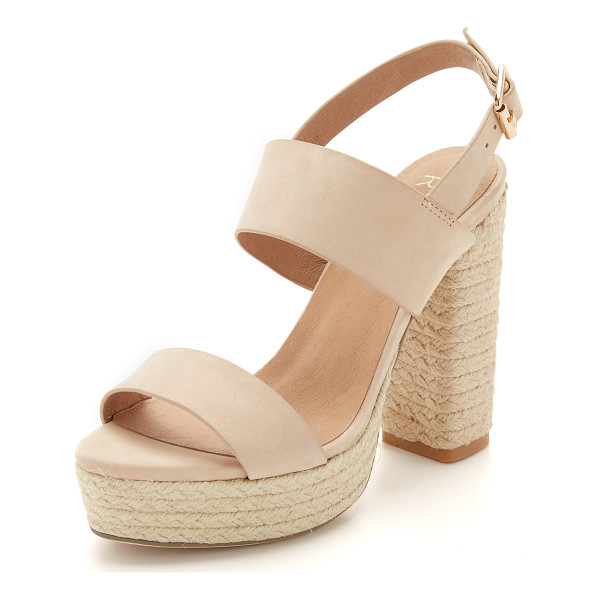 RAYE Halle platform sandals - Smooth nubuck Raye sandals styled with a braided jute...