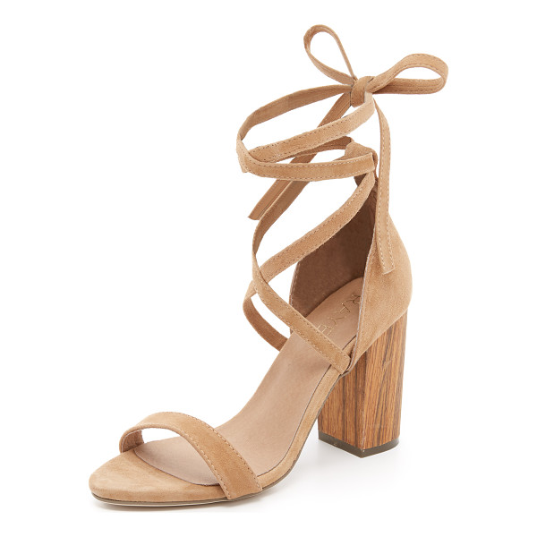 RAYE Layla lace up sandals - A chunky wooden heel lends a natural appeal to these luxe...