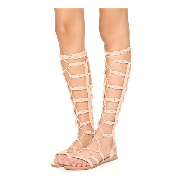 RAYE Shanna tall gladiator sandals - Raye gladiator sandals in studded suede. Wraparound ankle...