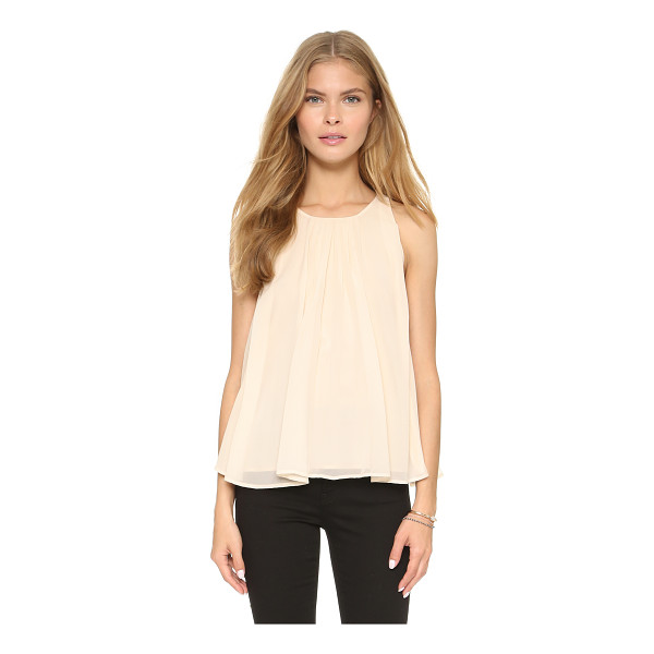 REBECCA MINKOFF Alleen top - Pleating brings graceful swing to this airy Rebecca Minkoff...