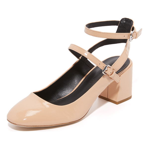 REBECCA MINKOFF brooke mary jane pumps - Rebecca Minkoff mary jane pumps made from crinkled patent