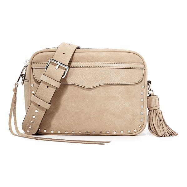 REBECCA MINKOFF bryn camera bag - A suede Rebecca Minkoff cross-body bag trimmed with...