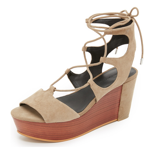 REBECCA MINKOFF Cady platform sandals - A stacked platform and covered heel give a unique update to...