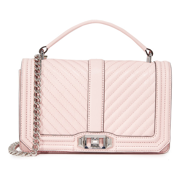 REBECCA MINKOFF chevron quilted cross body bag - A structured Rebecca Minkoff cross-body bag styled in