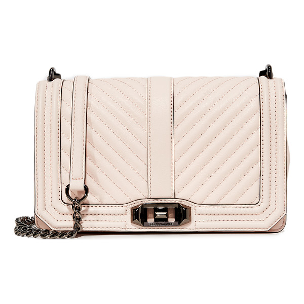 REBECCA MINKOFF chevron quilted love cross body bag - A structured Rebecca Minkoff cross-body bag styled in