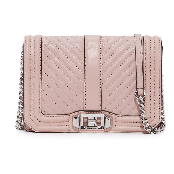 REBECCA MINKOFF chevron quilted small love cross body bag - This petite Rebecca Minkoff cross-body bag is detailed with...