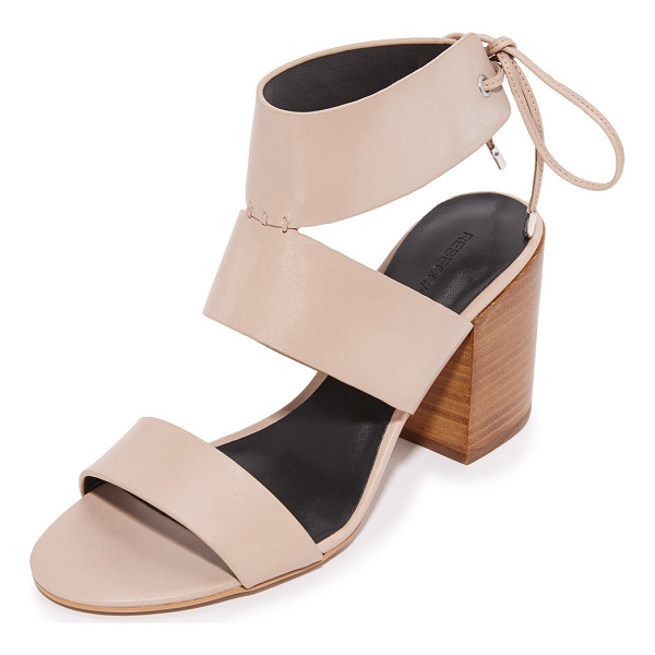 REBECCA MINKOFF christy sandals - Smooth leather Rebecca Minkoff sandals, styled with a tie...