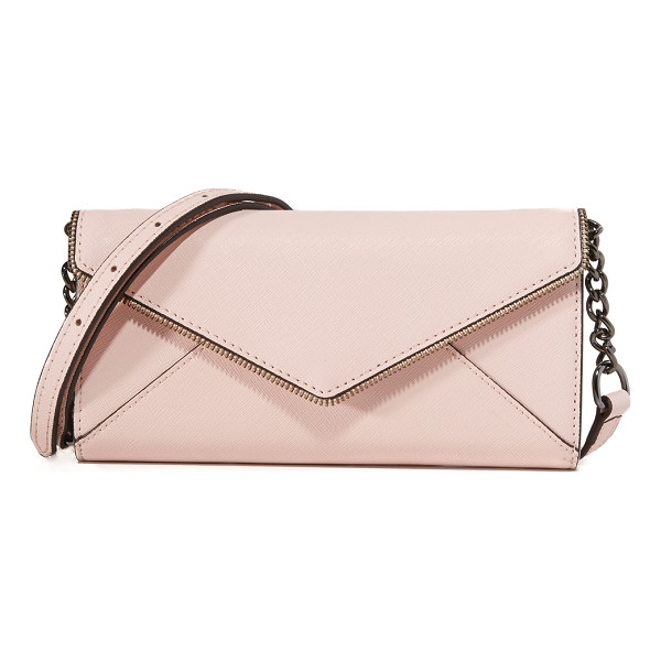 REBECCA MINKOFF Cleo wallet on a chain - This leather Rebecca Minkoff envelope wallet features...