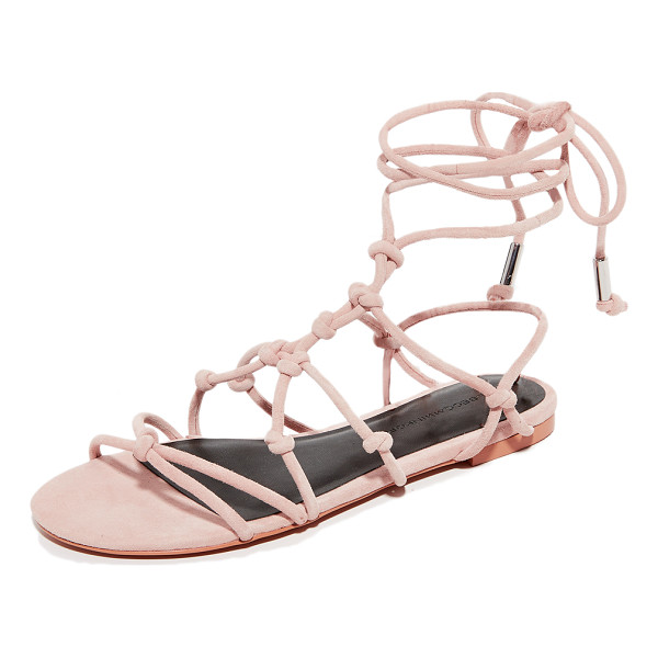 REBECCA MINKOFF elyssa sandals - Delicate, knotted straps form a caged effect on these suede...