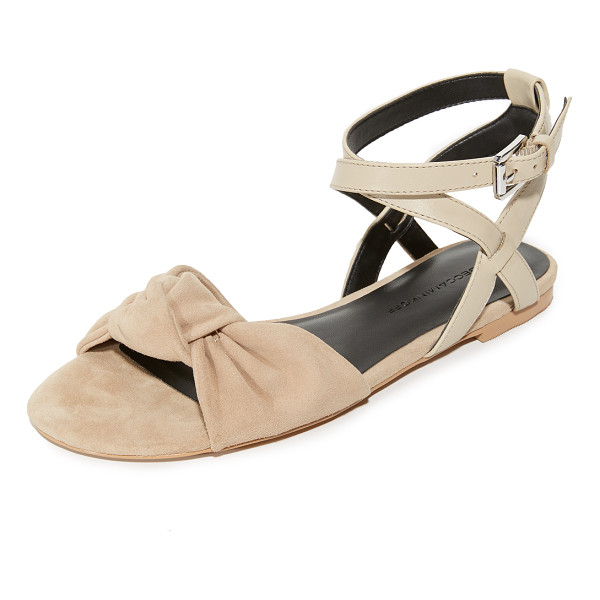 REBECCA MINKOFF evette sandals - A slouchy knot adds feminine detail to these suede Rebecca...