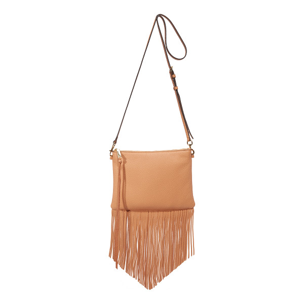 REBECCA MINKOFF Fringe Jon Cross Body Bag - A narrow Rebecca Minkoff cross body bag trimmed with...