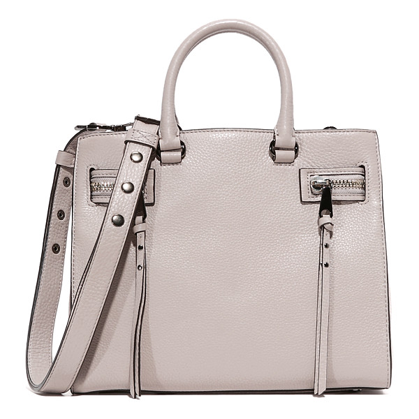 REBECCA MINKOFF Geneva satchel - Decorative zips with long pulls detail the sides of this