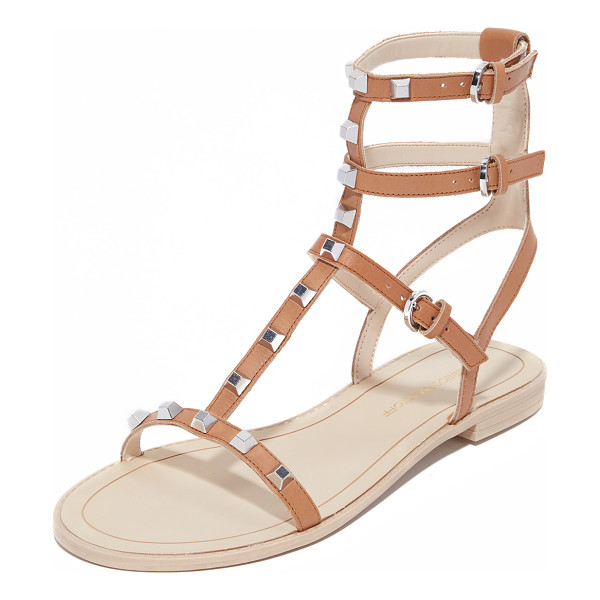 REBECCA MINKOFF Georgina studded sandals - Metallic studs detail the slim leather straps on these...
