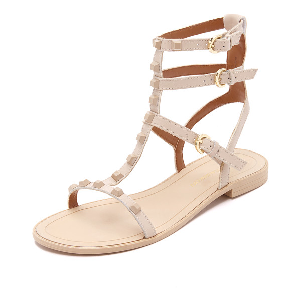 REBECCA MINKOFF Georgina studded sandals - Tonal studs detail the slim, leather straps on these