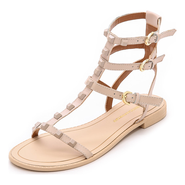 REBECCA MINKOFF Georgina studded sandals - Tonal pyramid studs add an edgy element to these strappy...