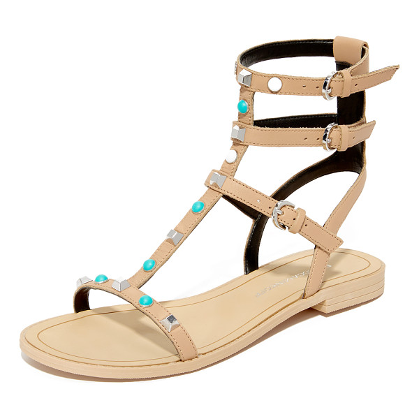 REBECCA MINKOFF georgina too studded sandals - Polished studs and colorful beads add unique charm to these