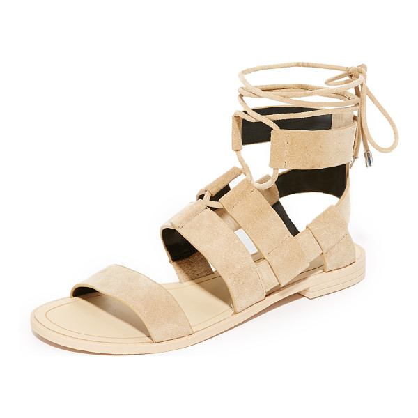 REBECCA MINKOFF giada sandals - Layered straps of luxe suede compose these Rebecca Minkoff...