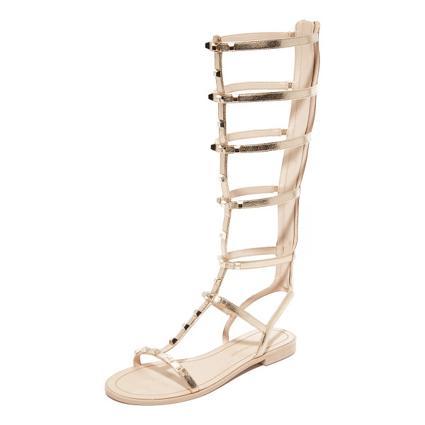 REBECCA MINKOFF Giselle tall gladiator sandals - Metallic leather and metal studs give these Rebecca Minkoff...