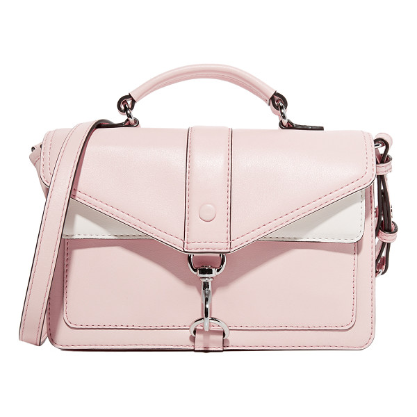 REBECCA MINKOFF hudson moto mini cross body bag - A polished spring-lock fastens the flap front pocket of