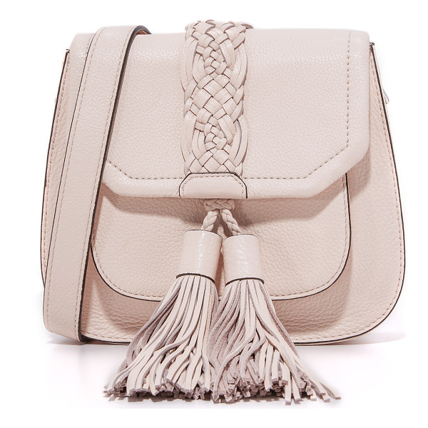 REBECCA MINKOFF isobel front pocket saddle bag - Oversized tassels dangle from the front pocket of this
