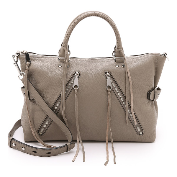 REBECCA MINKOFF Large moto satchel - A large Rebecca Minkoff satchel styled in pebbled leather.