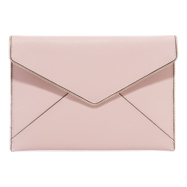 REBECCA MINKOFF leo clutch - Exposed zipper trim brings industrial edge to this Rebecca