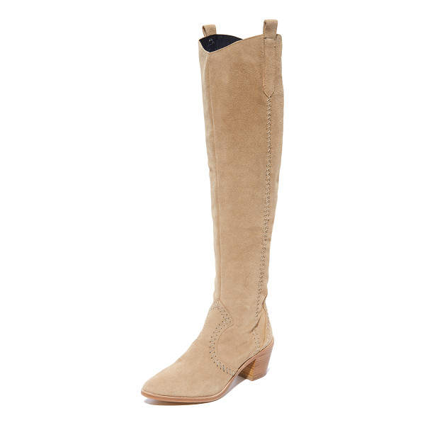 REBECCA MINKOFF lizelle over the knee boots - Panels of suede accented with whipstitching compose these