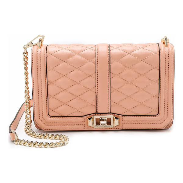 REBECCA MINKOFF Love cross body bag - A Rebecca Minkoff cross body bag in quilted leather. A slim...