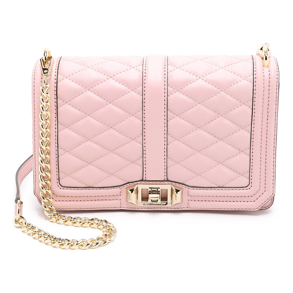 REBECCA MINKOFF Love cross body bag - A leather Rebecca Minkoff cross body bag with quilted